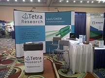 Tetra Research display booth at the 51st Aerospace Sciences Meeting held in Grapevine, TX.
